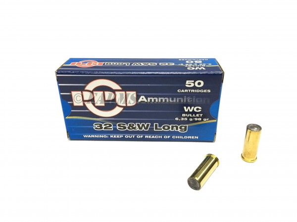 PPU .32 S&W Long 98grs WC 50 Stk/Pkg