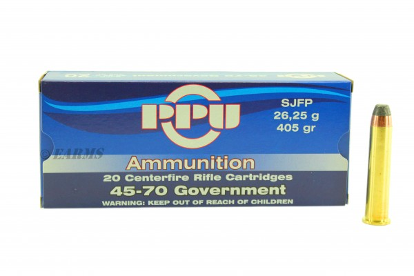 PPU .45-70 Government 405grs SJFP 20 Stk/Pkg