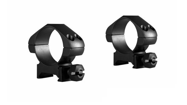 HAWKE Steel Precision Ringmontage 30mm für Weaver / Picatinnyschienen