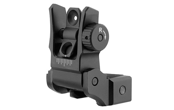 UTG® Low Profile Flip-up Rear Sight with Dual Aiming Aperture