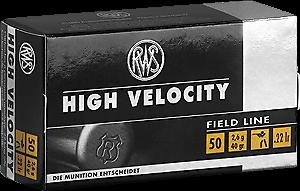 RWS .22lr High Velocity 40 grs. 50 Stk/Pkg