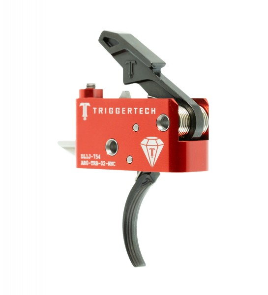 TRIGGERTECH Diamond AR15 Trigger Black Curved