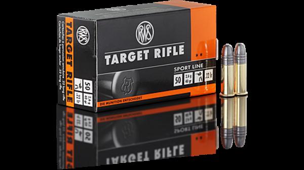 RWS .22lr Target Rifle 40 grs. 50 Stk/Pkg