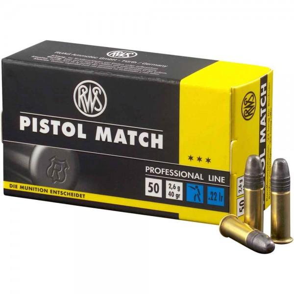 RWS .22lr Pistol Match 40 grs. 50 Stk/Pkg