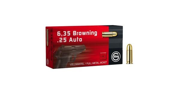 GECO 6,35 Browning/.25 Auto FMJ 49grs 50 Stk/Pkg