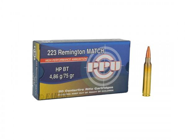PPU .223 REM 75grs HPBT 20 Stk/Pkg