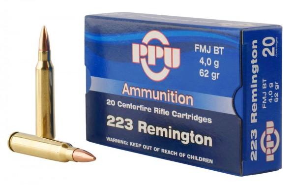 PPU .223 Rem FMJ 62grs 20 Stk/Pkg