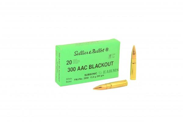 S&B .300 AAC Blackout Subsonic FMJ 200grs 20 Stk/Pkg