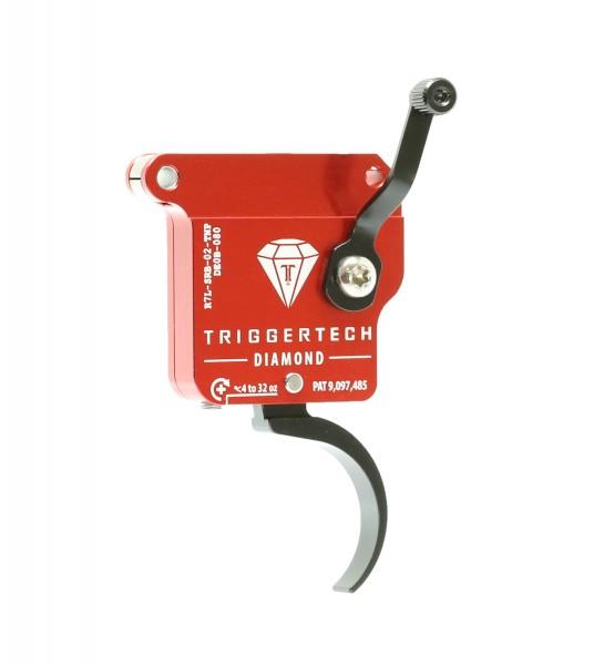 TRIGGERTECH REM 700 CLONE Diamond Pro* Black Curved Left