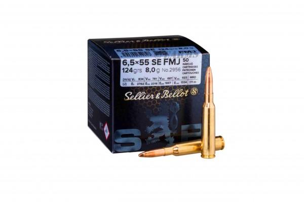 S&B 6,5x55 SE FMJ 140grs 50 Stk/Pkg