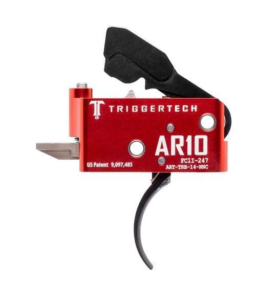 TRIGGERTECH Diamond AR-10 Trigger Black Curved