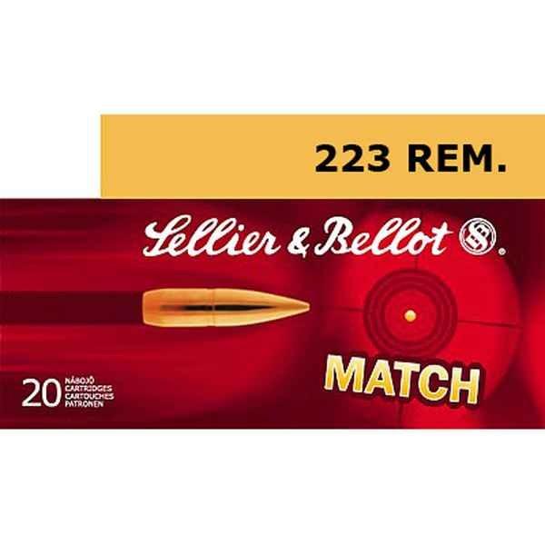 S&B .223 Rem HPBT 52grs 20 Stk/Pkg