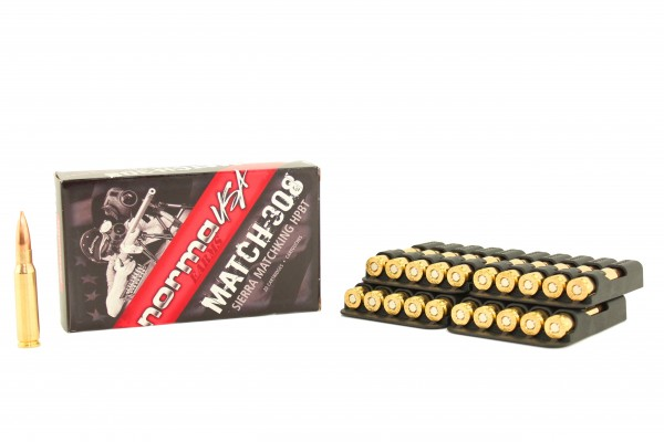 NORMA Match .308 WIN Sierra Match King HPBT 168grs 20Stk/Pkg
