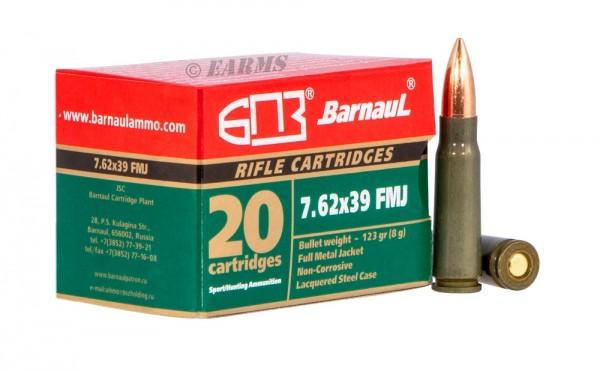 BARNAUL 7,62X39 123grs FMJ 20Stk/Pkg