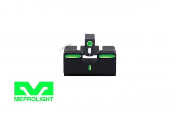 MEPROLIGHT R4E Green GLOCK 17/19/19X/20/21/22/23/34/35/45 Tritium Visierung