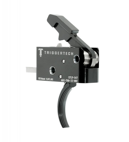 TRIGGERTECH Competitive AR15 Trigger Black Curved