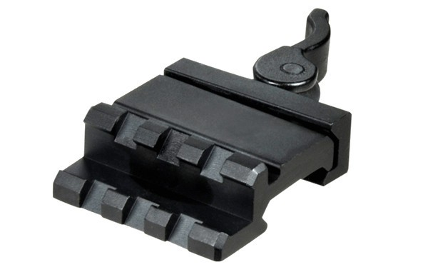 UTG 3-SLOT SINGLE RAIL Adapter / Full Adjustable + QD Lever Lock