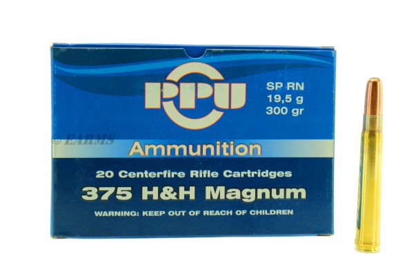 PPU .375 H&H MAGNUM 300grs SP 20 Stk/Pkg