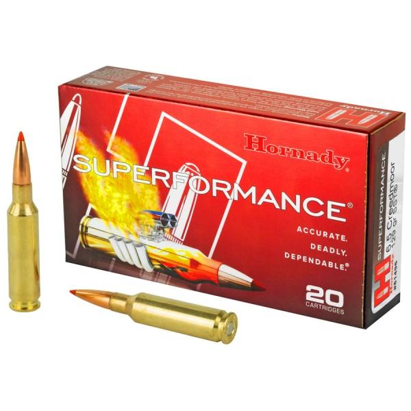 HORNADY 6,5 CREEDMOOR 129grs Superformance® SST® 20 Stk/Pkg