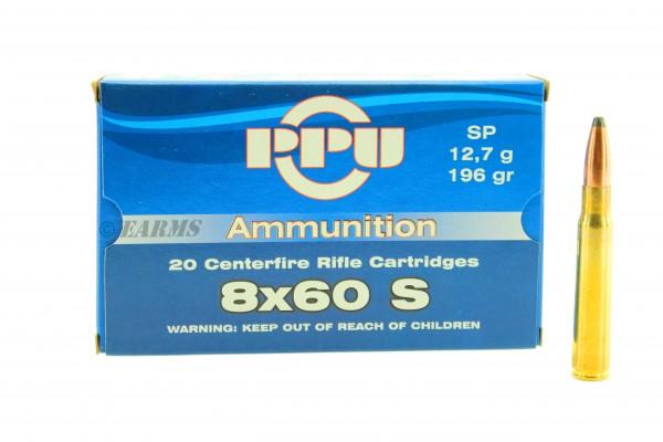 PPU 8x60 S 196grs SP 20 Stk/Pkg