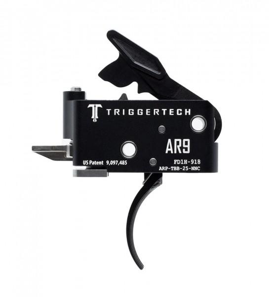 TRIGGERTECH Adaptable AR9 Trigger Black Curved