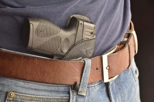 Pistolen und Revolver Rauhleder Inside Holster mit Clip verstellbar