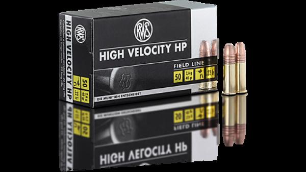 RWS .22lr High Velocity HP 40 grs. 50 Stk/Pkg