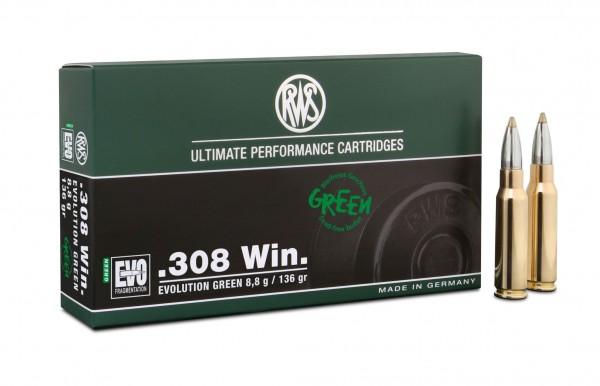 RWS .308 WIN EVO GREEN 8,8g/136grs 20 Stk/Pkg