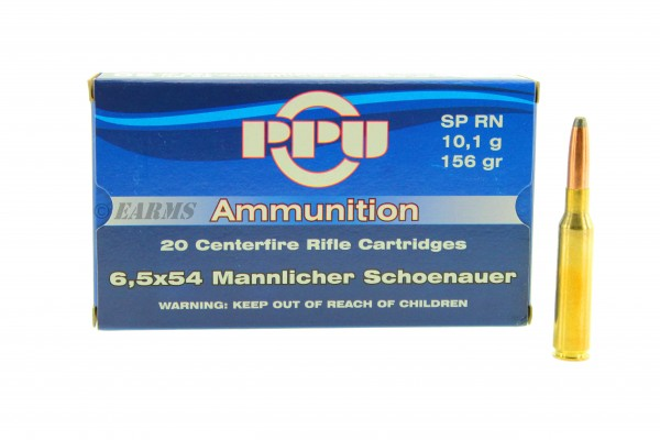 PPU 6,5x54 Mannlicher Schönauer 10,1g/156grs SPRN 20 Stk/Pkg