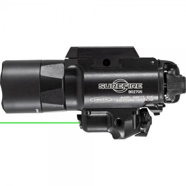 SUREFIRE X400U-A-GN LED Weapon Light with Green Laser for Handgun or Long Gun