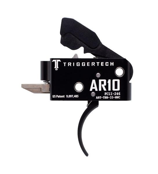 TRIGGERTECH Competitive AR-10 Trigger Black Curved