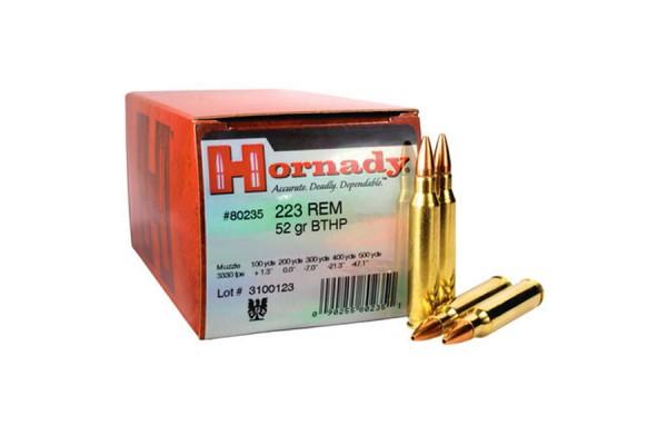 HORNADY .223 REM BTHP 52grs 50 Stk/Pkg