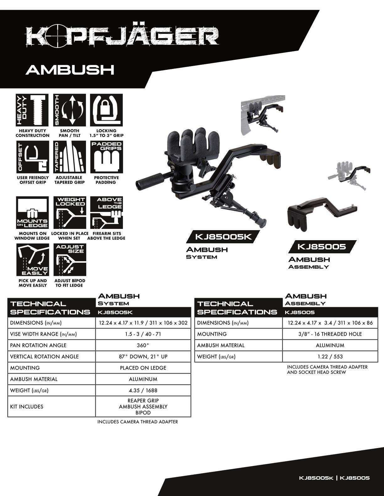 KOPFJ-GER-Ambush-Rest-Kit-includes-bipod-and-Reaper-Grip-KJ85005K