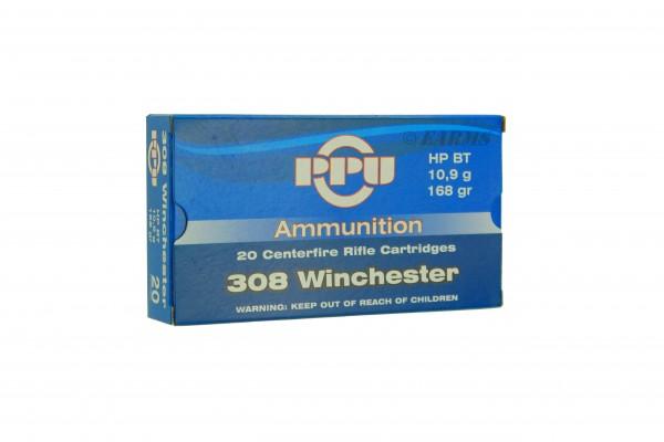 PPU .308 WIN 168grs HPBT 20 Stk/Pkg