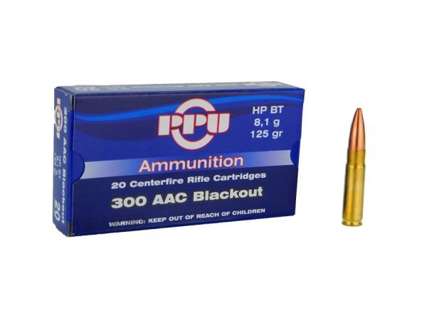 PPU .300 Blackout HPBT 125grs 20 Stk/Pkg