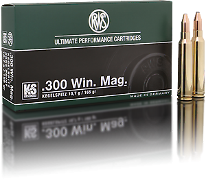 RWS .300 WIN MAG KS 10,7g/165grs 20 Stk/Pkg