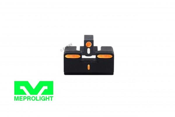 MEPROLIGHT R4E Orange GLOCK 17/19/19X/20/21/22/23/34/35/45 Tritium Visierung