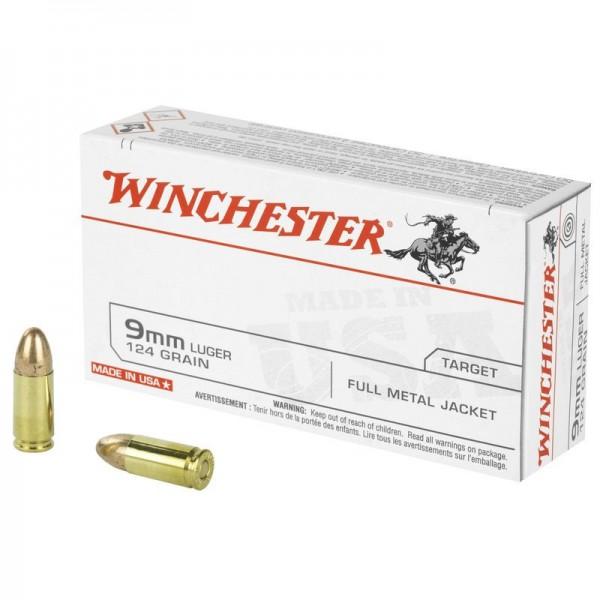 WINCHESTER 9mm Luger FMJ 124grs 50 Stk/Pkg