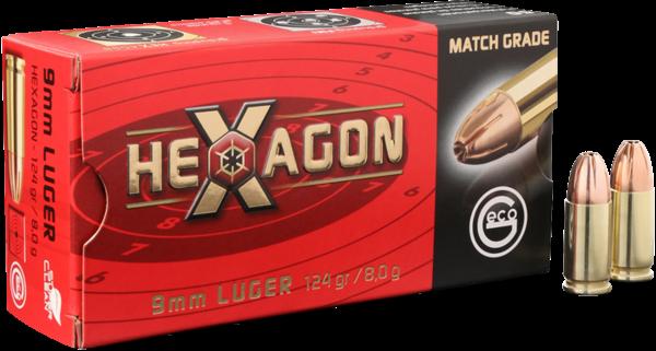 GECO HEXAGON 9mm Luger 124 grs 50 Stk/Pkg