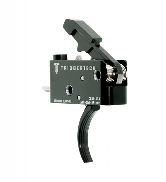 TRIGGERTECH Adaptable AR-15 Trigger Black Curved