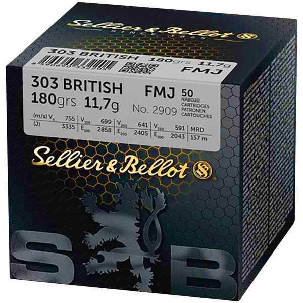 S&B .303 British FMJ 180grs 50 Stk/Pkg