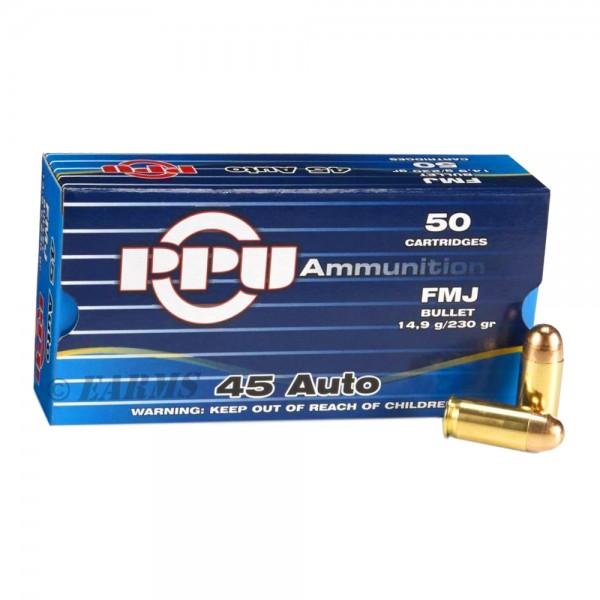 PPU .45ACP FMJ 230grs. 50 Stk/Pkg