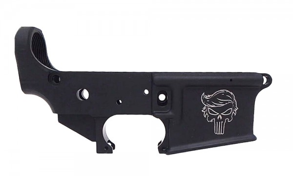 "ANDERSON ARMS AR15 M4 Multi Caliber Lower Open Stripped "" TRUMP PUNISHER SKULL """