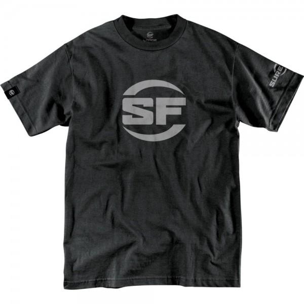 SUREFIRE Button Logo Black Drab T-shirt XL