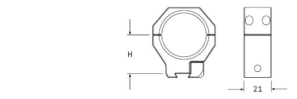 AUDERE-PSR-Dovetail-Scope-rings-Ringmontage-f-r-11mm-Prismenschiene
