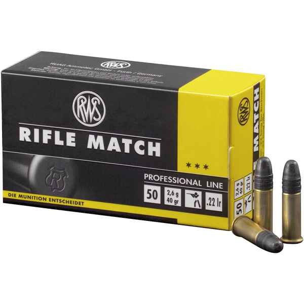 RWS .22lr Rifle Match 40 grs. 50 Stk/Pkg