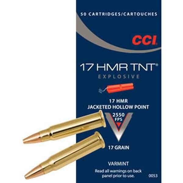 CCI .17 HMR 17grs JHP 50 Stk/Pkg