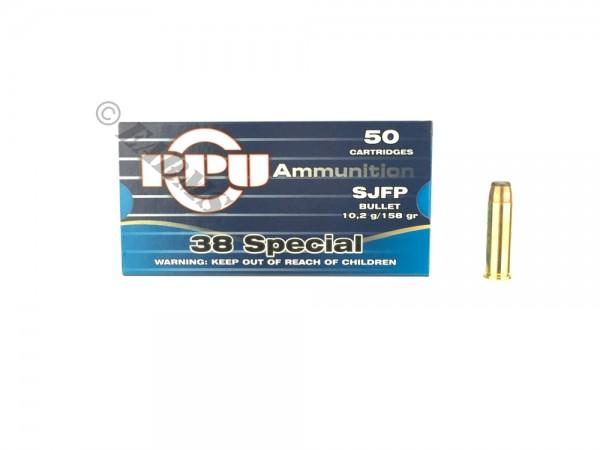 PPU .38 Special 158grs. SJFP 50 Stk/Pkg