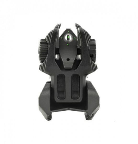 MEPRO FRBS M4D Tritium Flip- Up Ironsight SET Black