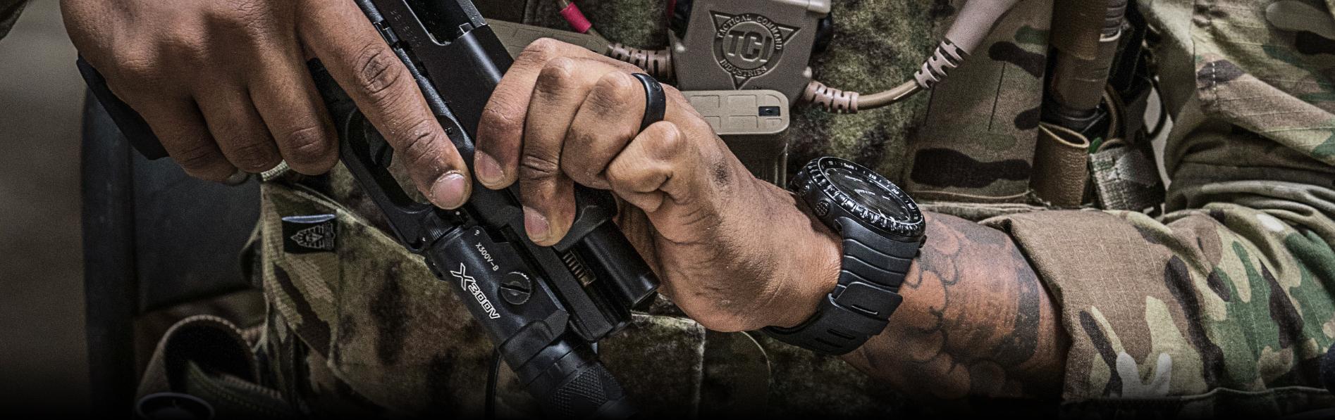 SUREFIRE-X300V-B-Infrared-White-LED-Handgun-WeaponLight-with-T-Slot-Mounting-System-GLOCK-Pistolenlicht-Waffenlicht-BANNER